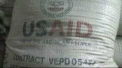 USA aid bag (HD) k Stock Footage