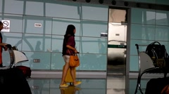 Beijing Airport Terminal China 01 Stock Footage