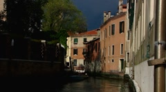 Stock Video Footage of Veneto Venice Venezia waterway canal tranquility canal