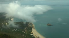 Beach, Mountain, Clouds Stock Footage