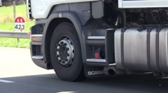 Lorry close-up Stock Footage