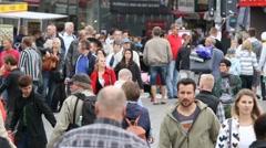 pedestrian street - stock footage