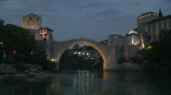 Stari Most. Mostar. evening. 1 Stock Footage