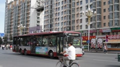 Beijing China Traffic 02 neutral high dynamic color Stock Footage