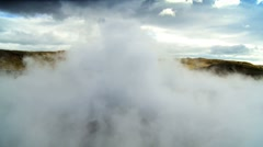 Billowing Steam From Underground Volcanic Springs Stock Footage