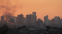 Air Pollution 3 - City View Stock Footage