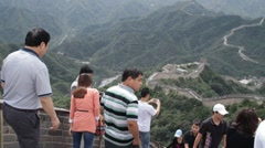 Great Wall in China 04 neutral high dynamic color - stock footage