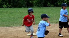 Little league baseball game - stock footage