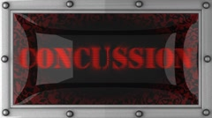 Concussion on led Stock Footage