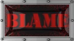 blame on led - stock footage