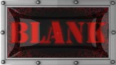 blank on led - stock footage