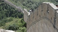 Stock Video Footage of Great Wall in China 15 neutral high dynamic color DOLLY