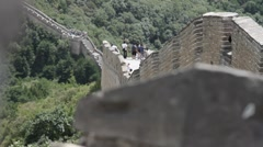 Great Wall in China 16 neutral high dynamic color DOLLY - stock footage