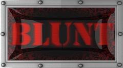 blunt on led - stock footage
