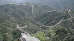 Great Wall in China 27 neutral high dynamic color DOLLY Stock Footage