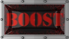 boost on led - stock footage