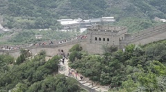 Great Wall in China 29 neutral high dynamic color - stock footage