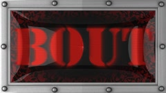 bout on led - stock footage