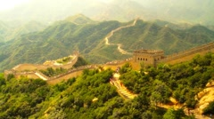 Great Wall in China 33 stylized artsoft diffusion Stock Footage