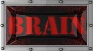 Brain on led Stock Footage