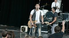 lead singer 2 - stock footage