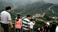 Great Wall in China 35 stylized filmlook - stock footage