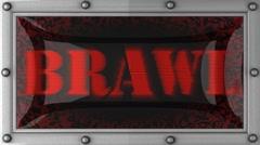 brawl on led - stock footage