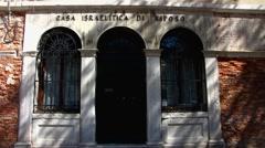 Veneto Venice Venezia Sinagoghe Museum Ebraico Stock Footage