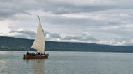 Stock Video Footage of Bristol Bay Double Ender Sailboat 2