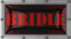 Bridle on led Stock Footage