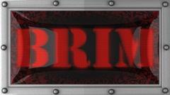 Brim on led Stock Footage