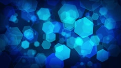 Stock Video Footage of Storm of hexagonal particles - Loopable Animation - hd1080