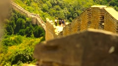 Great Wall in China 46 stylized artsoft diffusion DOLLY - stock footage