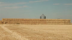 Farm Hay Stack 29.97p Stock Footage