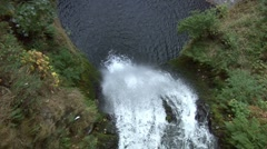 Looking down the waterfall in slow motion. Stock Footage
