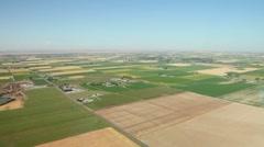 Farmland Aerial Patchwork 23.98p - stock footage