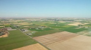 Stock Video Footage of Farmland Aerial Patchwork 23.98p