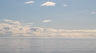 Clouds over the sea Stock Footage