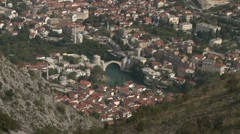 Stari Most. Mostar. long-shot Stock Footage