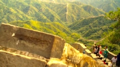 Great Wall in China 51 stylized artsoft diffusion DOLLY - stock footage