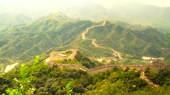 Great Wall in China 54 stylized artsoft diffusion Stock Footage