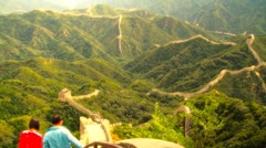 Great Wall in China 57 stylized artsoft diffusion DOLLY Stock Footage