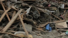 Japan Tsunami Destruction Driving into Disaster Area Stock Footage