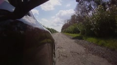 Road with potholes 2 Stock Footage