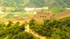 Great Wall in China 59 stylized artsoft diffusion - stock footage