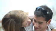 Young couple in love having fun Stock Footage