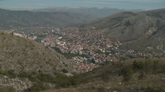 Mostar extremely long-shot Stock Footage