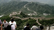 Stock Video Footage of Great Wall in China 65 stylized filmlook DOLLY
