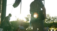 Guitar into the sun Stock Footage