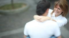 Stock Video Footage of Young couple in love spinning